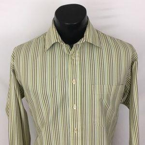 Burberry London mens Button Up Shirt green M